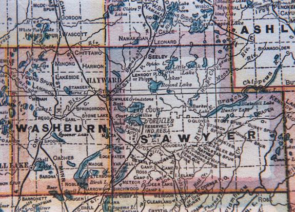 John L's Old Maps - Part 2 Detailed Map Of Wisconsin on