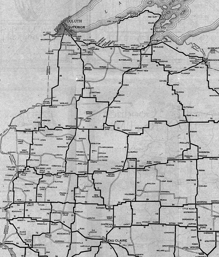 John Ls Old Maps Part - Wi road map