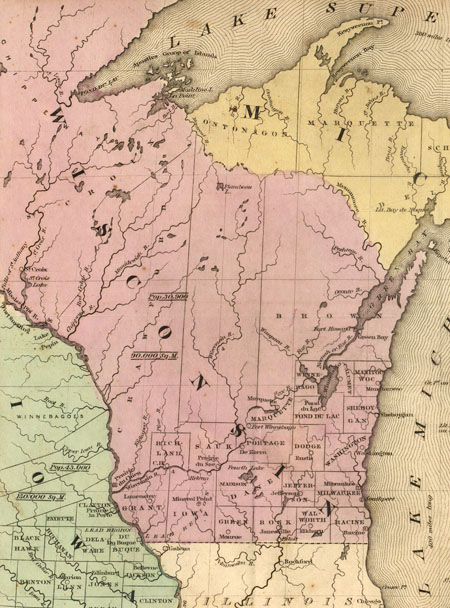 Old Iowa Map.John L S Old Maps Part 1